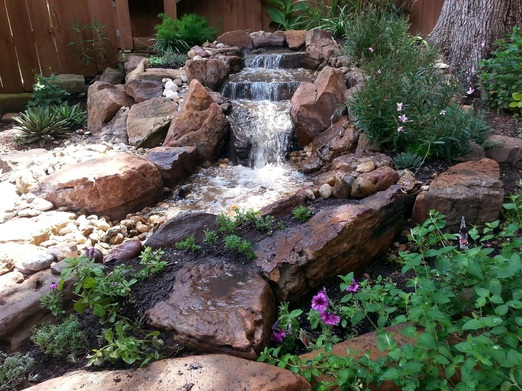 Disappearing Pondless Waterfalls Austin Houston Texas Tx Pond Contractor Services